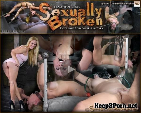 """Cherie DeVille takes on two cock for the first time ever! Deep throated, bound and fucked! Part 1"" with extreme girl: Cherie DeVille [HD] SexuallyBroken"