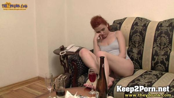 Russian curly haired young woman drunk, undressed and she felt bad [720p HD]