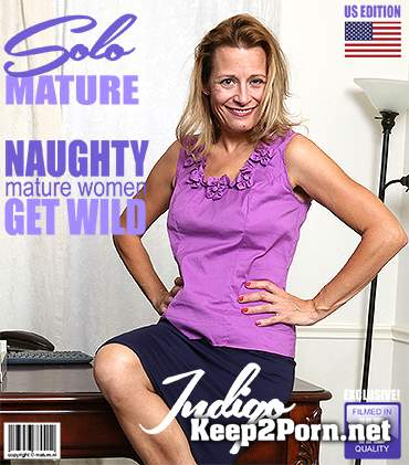 American housewife Indigo playing with her pussy [FullHD / Old Woman] Mature.nl, Mature.eu