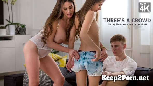 Cathy Heaven, Stefanie Moon (Three's A Crowd / 10.04.2018) [HD 720p] StepMomLessons, Babes