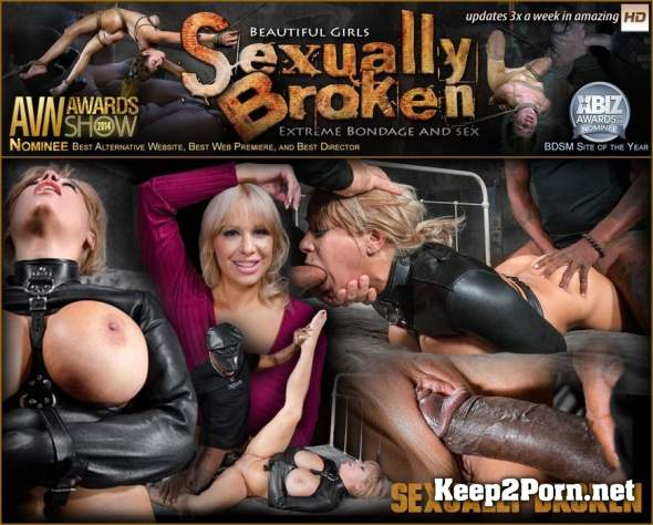 Big breasted Alyssa Lynn takes on two cocks while bound in a leather straightjacket! (SD / BDSM) SexuallyBroken