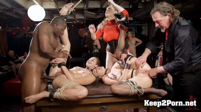 Aiden Starr, Krissy Lynn, Avi Love - Teen Anal Slut Taught The Ropes at Halloween Swingers Ball (03.05.2019) (BDSM, HD 720p) TheUpperFloor, Kink