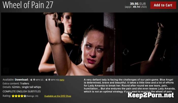 Wheel of Pain 27: Blue Angel, Lady Amanda (22.03.2019) [720p / BDSM] ElitePain