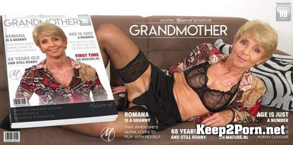 Romana (68) - Naughty granny having time to play with herself / 13524 (MP4 / SD) Mature.nl