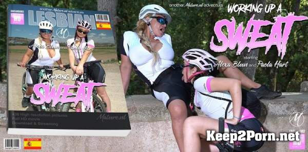 Alexa Blun (50), Paola Hard (EU) (19) - These old and young lesbians get wet and wild during a bike ride / 13502 (MP4, FullHD, Lesbians) Mature.nl