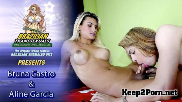 Aline Garcia & Bruna Castro Fuck Each Other! (Khan, Grooby Productions) (Shemale, HD 720p) Brazilian-Transsexuals