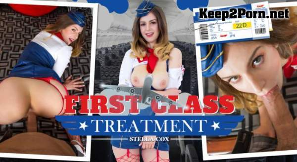 Casey Calvert, Stella Cox (First Class Treatment - Remastered / 21.03.2017) [Oculus Rift, Vive] (UltraHD 4K / VR) WankzVR