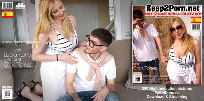 Chris Torres (22) & Lucia Kury (EU) (51) - Naughty MILF dating a college boy (MP4 / FullHD) Mature.nl, Mature.eu