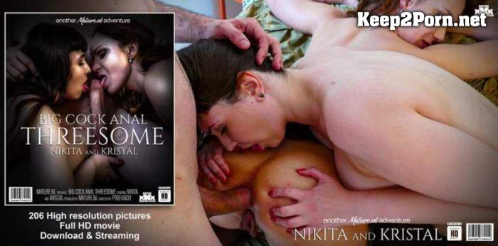 Kristal (30) & Nikita V. (32) - Big Cock Anal Threesome with two horny moms (HD / Anal) Mature.nl, Mature.eu